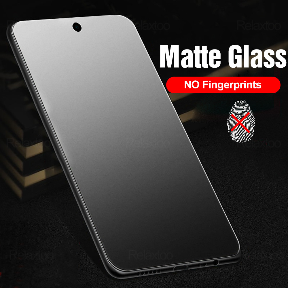 1/2pcs frosted matte protective glass for xiaomi redmi note 9s 6 7 8 9 pro max 8t 9a 8a 7a note8t no