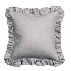 Flouncing piękny 100% czysty len potargane Euro Sham poszewka na poduszkę okładka poszewka na pościel darmowa wysyłka