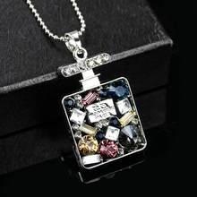 Collier long en cristal creux pour femme, chandail, nouvelle marque coréenne, bijoux, vente en gros