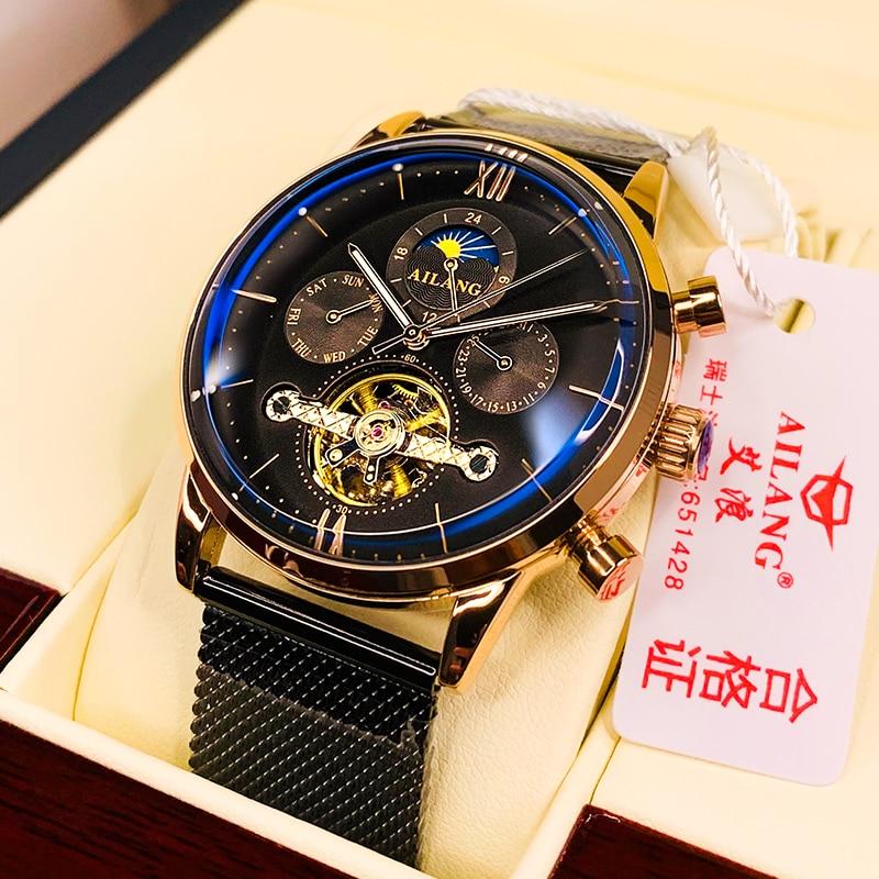 SSS คุณภาพผู้ชายนาฬิกา tourbillon Minimalist นาฬิกาอัตโนมัติออกแบบล่าสุด Swiss gear นาฬิกาข้อมือนาฬิกาดีเซลนาฬิกาผู้ชาย-ใน นาฬิกาข้อมือกลไก จาก นาฬิกาข้อมือ บน   1