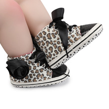 Baby Walking Shoes 1Pair Leopard Pattern Baby Girl Sneakers Soft Sole Shoes Casual Style Non-slip Cotton Baby Sneakers Newborn