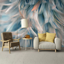 Custom Mural Wallpaper 3D Abstract Feather Art Fresco Living Room Bedroom Wall Papers Home Decor Wall Painting Papel De Parede custom mural wallpaper 3d abstract feather art fresco living room bedroom wall papers home decor wall painting papel de parede
