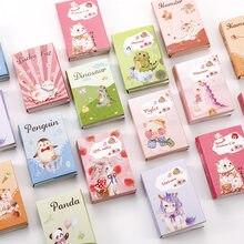 Adorable bloc-notes kawaii en boîte avec notes autocollantes, agenda avec post-its et mémos à motifs panda, chat pour fournitures scolaires et de bureau