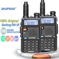 מכשיר הקשר 2pcs Baofeng DM-5R מכשיר הקשר Tier1 & 2 Professional Band Dual DMR רדיו דיגיטלי אנלוגי Dual Mode Dual זמן חריץ Walky טוקי (1)