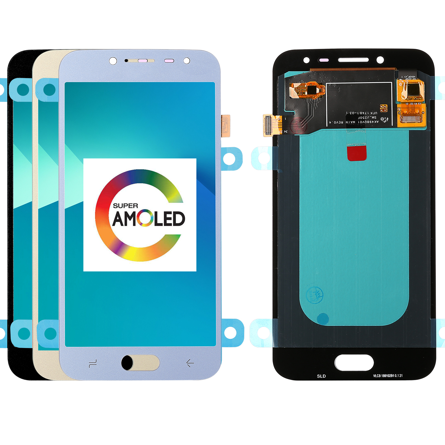 Super AMOLED LCDs Für Samsung Galaxy <font><b>J2</b></font> pro <font><b>2018</b></font> J250 J250F LCD <font><b>Display</b></font> mit Touch Screen Digitizer Montage Ersatz Teile image
