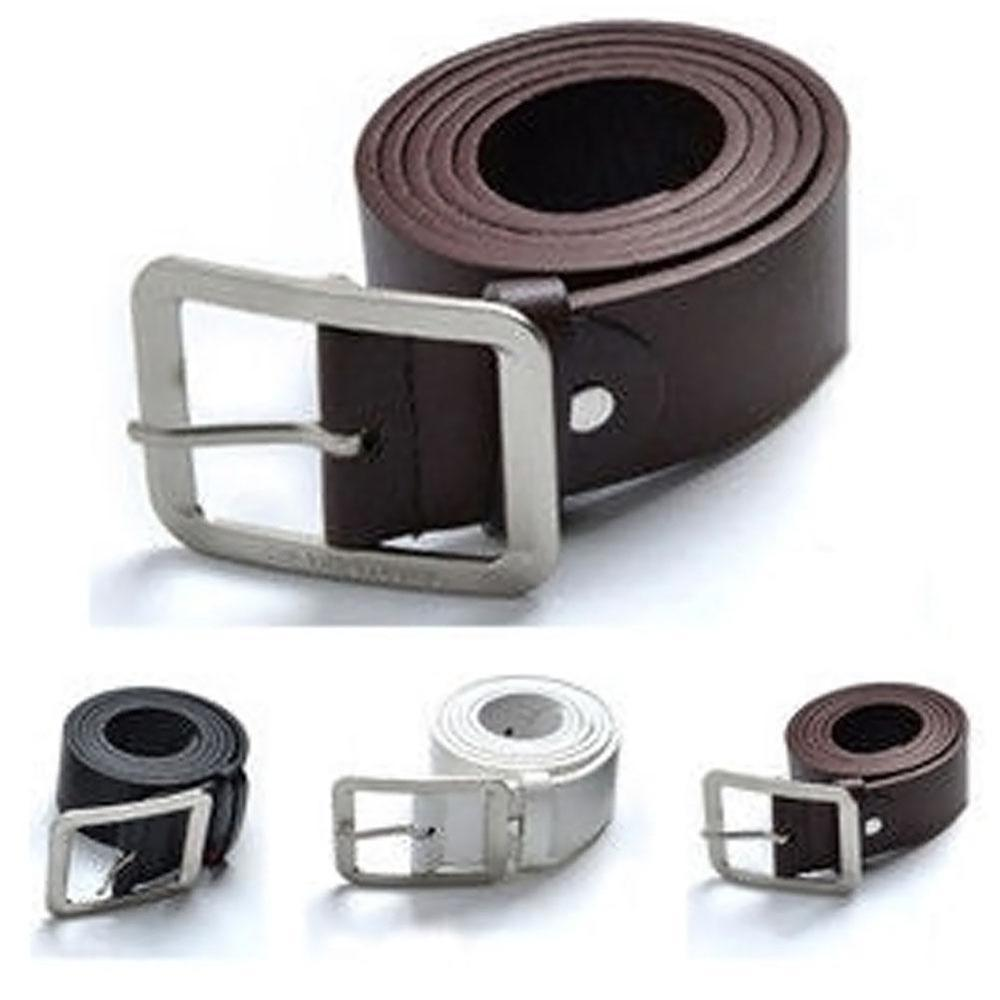 Casual Faux Leather Belt Man Metal Pin Buckle Vintage Mens Belts For Pants