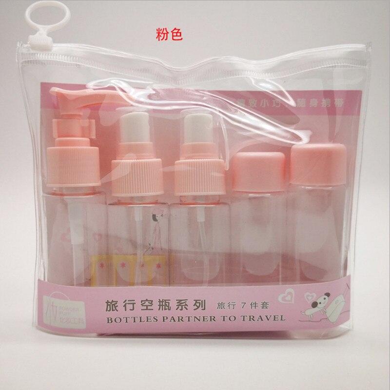 40 Ml 7Pcs Lotion Cream、 Shampoo Travel Refillable Bottles Set Cosmetic Small Plastic Refillable Bottle