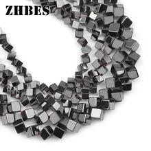Zhbes 4/6 мм натуральный камень диагональный куб квадратный
