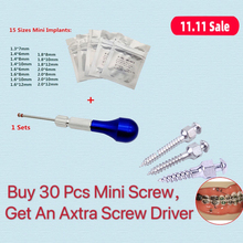 Dental Orthodontic Screwdriver Micro Screw Driver Self Drilling Tool & Orthodontic Mini Screw Titanium Alloy 11 size choose