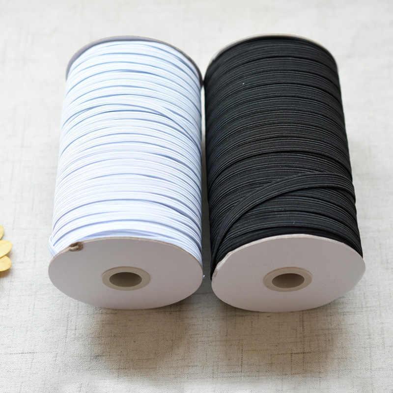 5 metros 3/6/8/10/12mm cinta elástica plana, cuerda elástica de goma, banda de goma elástica, accesorios de costura DIY 5z