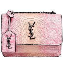 Women's bag 2021 new popular snake pattern chain handbag fashion shoulder messenger bag