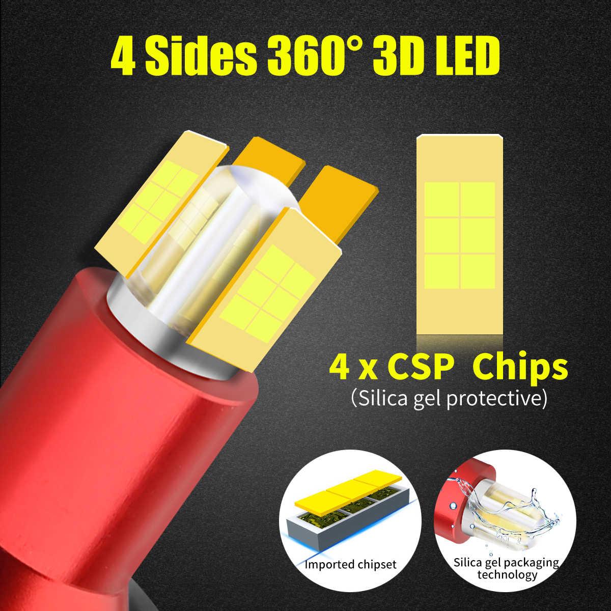 Bombillas LED de 8 lados H8 H7 H11 5202, bombillas para faros delanteros 60W 13500LM 360 grados 6000K blanco H11 H8 H3 9005 h16 H7, luces Led para luz antiniebla para coche