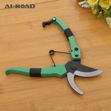 New product stainless steel gardening grafting tool fruit tree pruning tools  non slip spring scissors  pruning shears