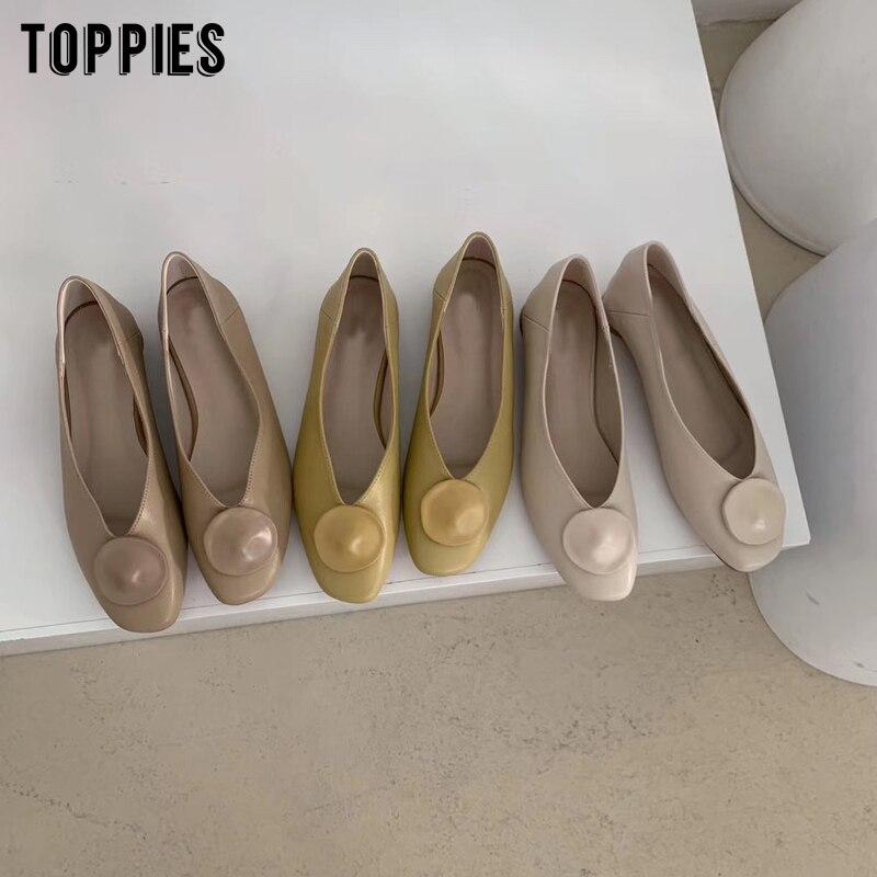 Zapatos planos de verano 2020 para mujer, color sólido, piel sintética, bajos de moda Coreanos
