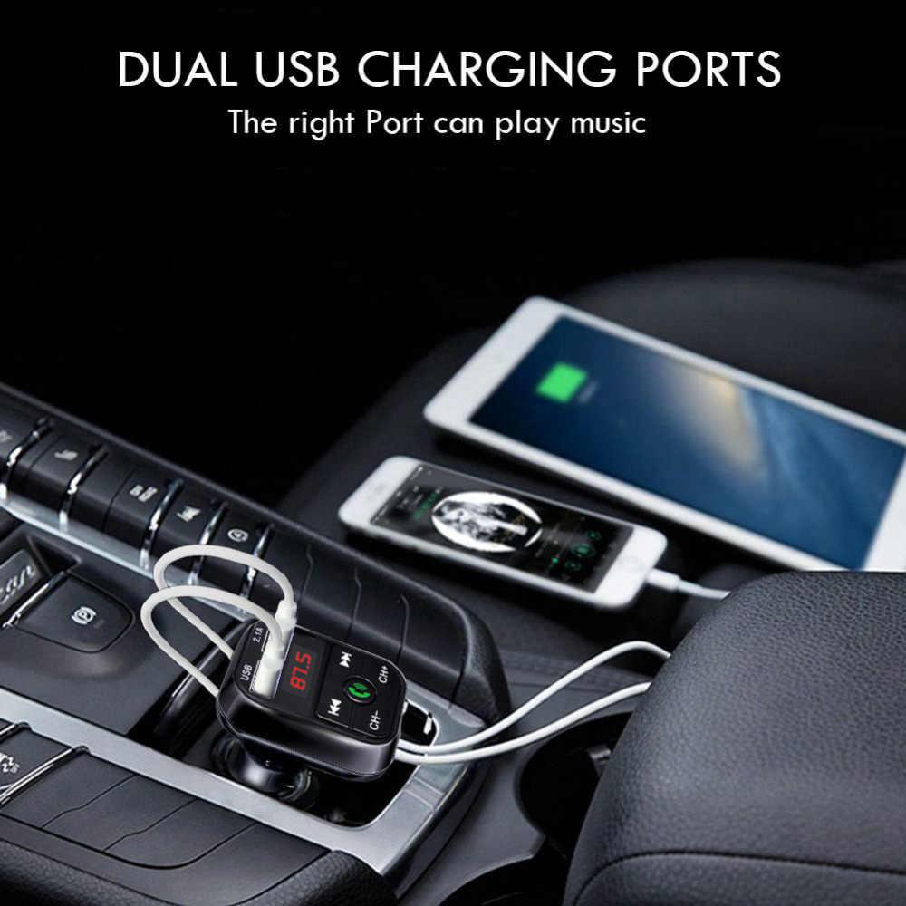 2019 Mobil Charger Usb Pemantik Rokok Mobil Adaptor Charger Di Mobil Nirkabel Bluetooth FM Transmitter MP3 Radio Adaptor Mobil kit