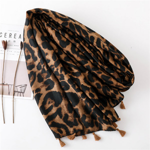 Image 2 - Foulard léopard pour femmes, Cheetah grande taille, imprimé Animal, châle, écharpe légère
