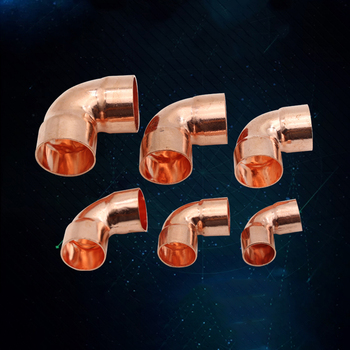 """1/4"""" 3/8"""" 1/2"""" 8 10 14 15 16mm ID 99.9% Copper End Feed Solder 90 Degree Elbow Plumbing Fitting Coupler For Air Condition"""