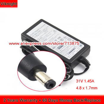Genuine 0950-4340 31V 1.45A 45W with Plug Size 4.8 x 1.7mm Printer Power Supply ADP-45YH MM for HP OFFICEJET 6110 AIO PRINTER
