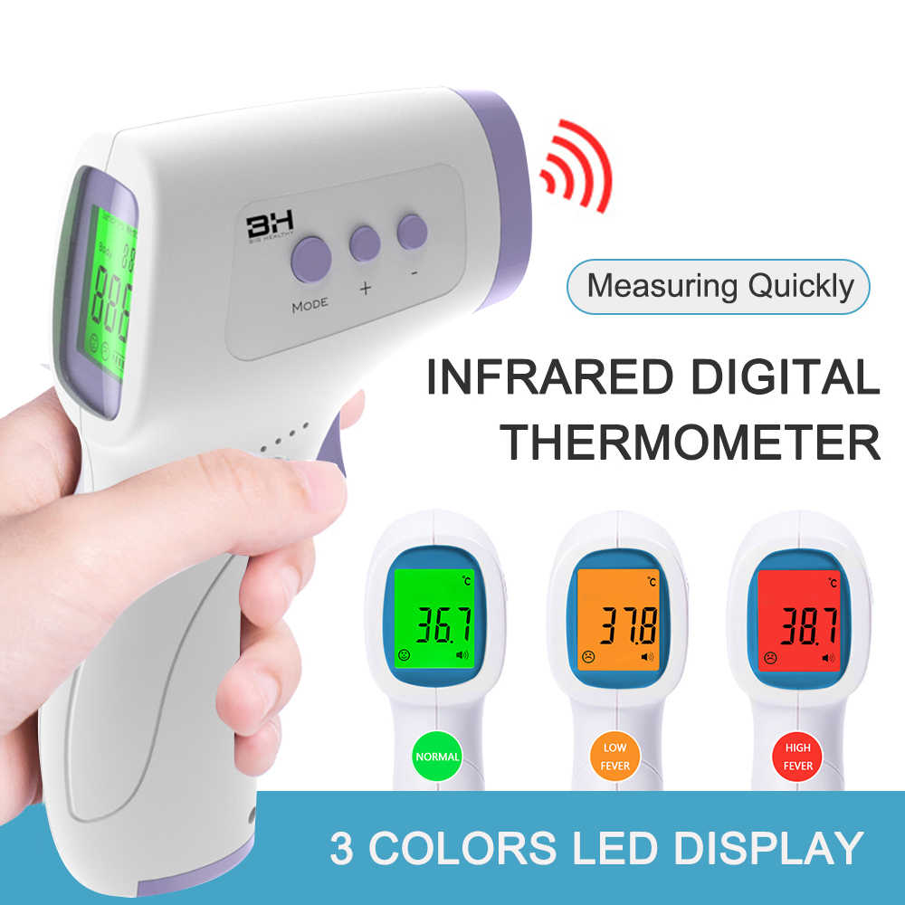 Non-Contact Infrarood Ir Temperatuur Infrarood Temperatuur Meter Digitale Temperatuur Gun Lcd Display Termometro Digitale