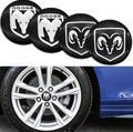 4pcs 56mm Car Wheel Hub Center Cap Sticker Styling For Dodge- Challenger HellCat RAM Viper Logo SRT Durango Car accessories