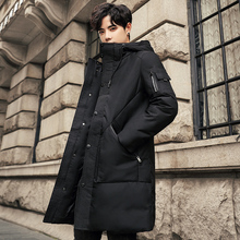 2019 New Winter Long Down Jacket Hooded Plus Size Thick High Quality Casual Fashion Long Parkas Winter Coat Men Brand Clothing цены онлайн