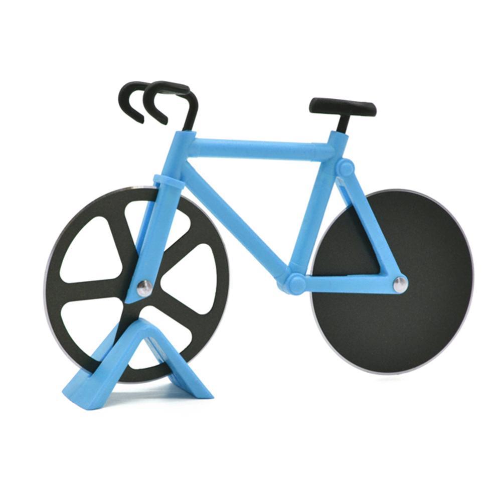 Новинка Велосипед резак для Пиццы Колесо антипригарное двойные режущие колеса велосипед из нержавеющей стали резак для пиццы для любителе...