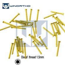 1,5 мм титановые самонарезающие винты только для ветеринарного применения небольших ортопедических инструментов ветеринаром питомца звездой головы корковых