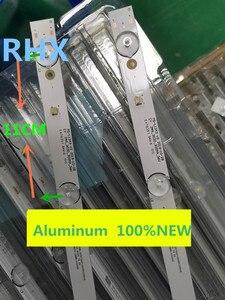 Image 2 - 2 unidades/lote de 6 lámparas de tira de LED para iluminación trasera de 580mm para Tv, JL.D32061330 081AS M, E348124 HM, 32v, FZD 03 de entrada L2202
