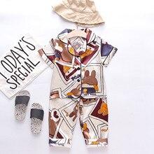 Pajamas Sleepwear Toddler Baby-Boys-Girls 1-5years Outfits Comic Animal-Tops Bb Garon