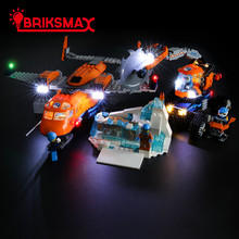 BriksMax Led Light Kit For City Series Arctic Supply Plane Building Blocks Compatible With 60196 (NOT Include Model) new city series toys arctic supply plane compatible lepinngly city 60196 building blocks toys for children birthday gift