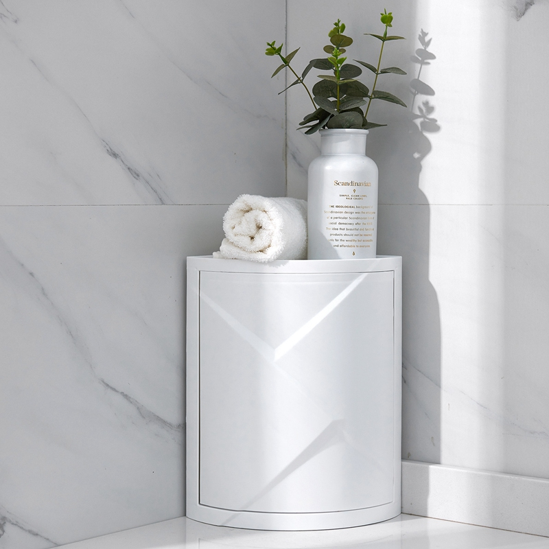 Модная ванная комната, вращающаяся на 360 градусов полка для кухни, туалетной полки, угловая полка для ванной комнаты, стеллаж для хранения шкафчик, многослойное хранение