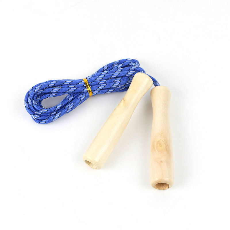 High Quality Durable Skipping Rope With Wooden Handle Count Jump Rope Groups Sports Fitness Jump Rope