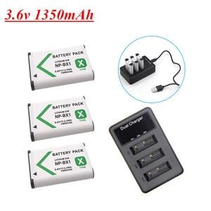 3.6v 1350mAh NP-BX1 NP BX1 Battery for Sony DSC RX1 RX100 M3 M2 RX1R GWP88 PJ240E AS15 WX350 WX300 HX300 HX400