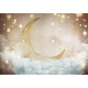 Image 3 - Funnytree sky moon Cloud fairy tale star newborn baby shower birthday background kid photography backdrops photophone Home Decor
