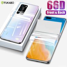 66D przednia i tylna folia hydrożelowa do Huawei P30 Pro P40 Lite P20 P inteligentna osłona ekranu do honoru 10 Lite 8X pokrywa (nie szkło) tanie tanio FUKABO CN (pochodzenie) Przedni Film P20 Lite Honor 8X Telefon komórkowy For Huawei P20 Lite Front And Back Screen Protector