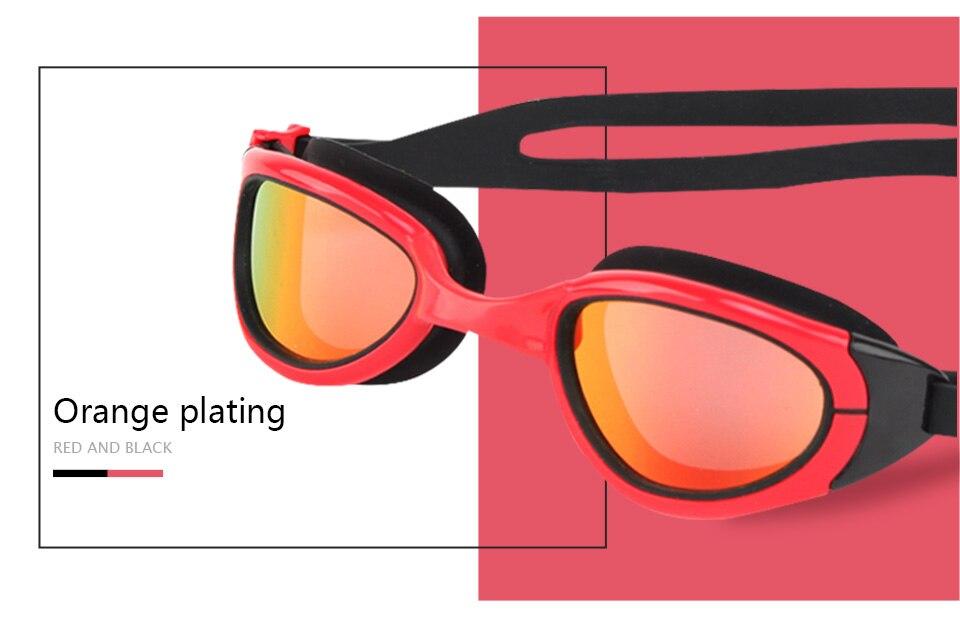 anti-nevoeiro arena silicone óculos para natação onda louca