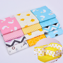 100x160cm Pure Cotton Fabric Cloth For Baby Bed Sheet Patchwork Quilting Twill Bedding Cartoon Fabrics DIY Dolls Sewing Textile 100x160cm pure cotton fabric cloth for baby bed sheet patchwork quilting twill bedding cartoon fabrics diy dolls sewing textile