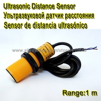 6 pcs Ultrasonic transducer to detect control or measuring level of stone and sand hopper 1M Range NPN Output 12/24V DC power