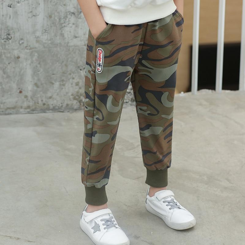 VFOCHI 2020 Boys Pants Spring Summer Thin Camouflage Kids Trousers  4-14T Teenager Boy Clothing Elastic Waist Boy Pencil Pants 2