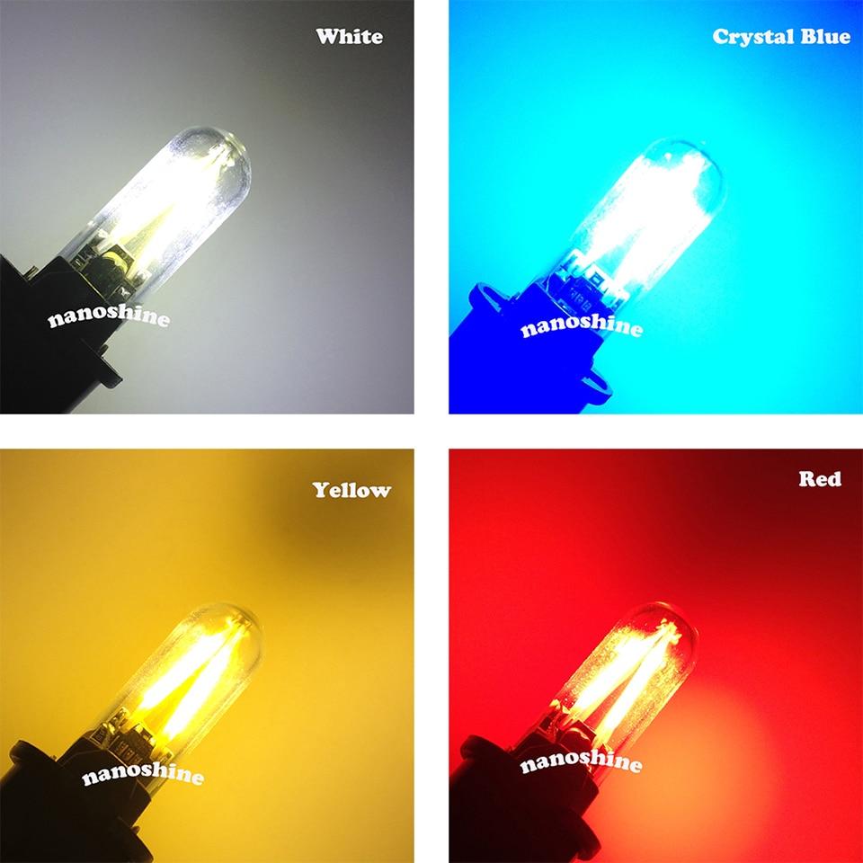 Newest W5W led T10 cob glass car light Led filament auto automobiles reading dome bulb lamp DRL car styling 12v 6