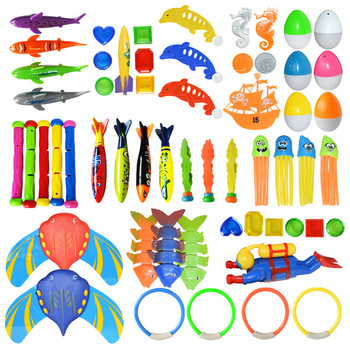 Hot Summer Shark Rocket Throwing Toy Funny Swimming Pool Diving Game Toys for Children Dive Dolphin Accessories Toy