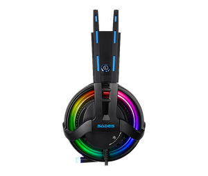Image 3 - SADES Diablo Realtek Effect Gamer Headphones RGB Gaming Headset Headphone with Retractable Microphone