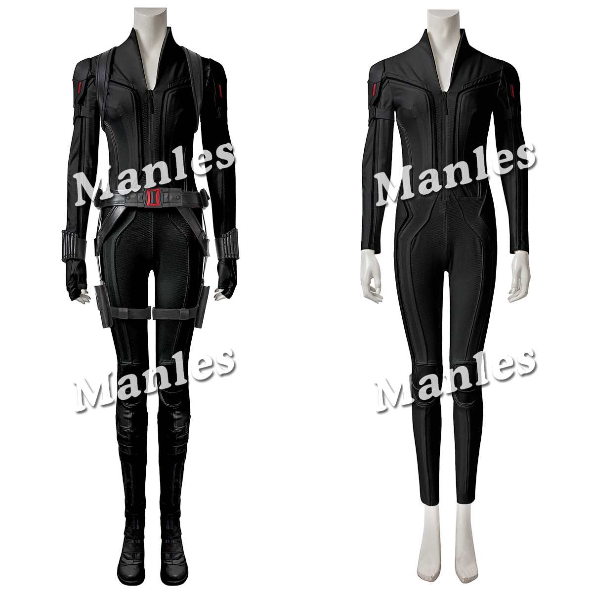 2020 Movie Black Widow Cosplay Natasha Romanoff Costume Leather Jumpsuit Black Suit Women Halloween Carnival Outfit Custom Made