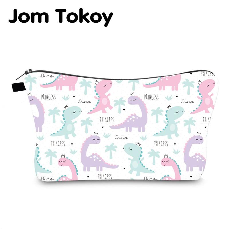 Jom Tokoy Waterproof Cosmetic Organizer Bag Makeup Bag Printing Dinosaur Cosmetic Bag Fashion Women Multifunction Beauty Bag 993