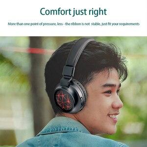 Image 5 - MS k21 נייד אלחוטי אוזניות Bluetooth סטריאו מתקפל אוזניות אודיו Mp3 מתכוונן אוזניות עם מיקרופון עבור מוסיקה