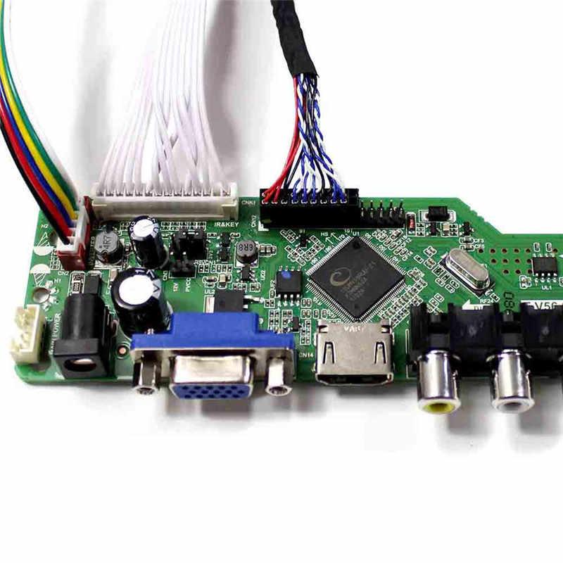 Latumab LCD/Bộ Điều Khiển LED Driver Ban Cho B154EW02 V1/V2/V3 B154EW02 V.1/V.2/V.3 tivi + HDMI + VGA + CVBS + Tặng Đèn LED Cổng USB Màn Hình