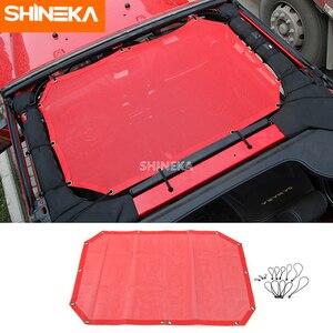 Image 3 - SHINEKA 2 דלתות שמשייה קדמי גג רשת ביקיני למעלה גג רשת שמש UV מגן רכב כיסוי עבור ג יפ רנגלר 2007 2017 אביזרים