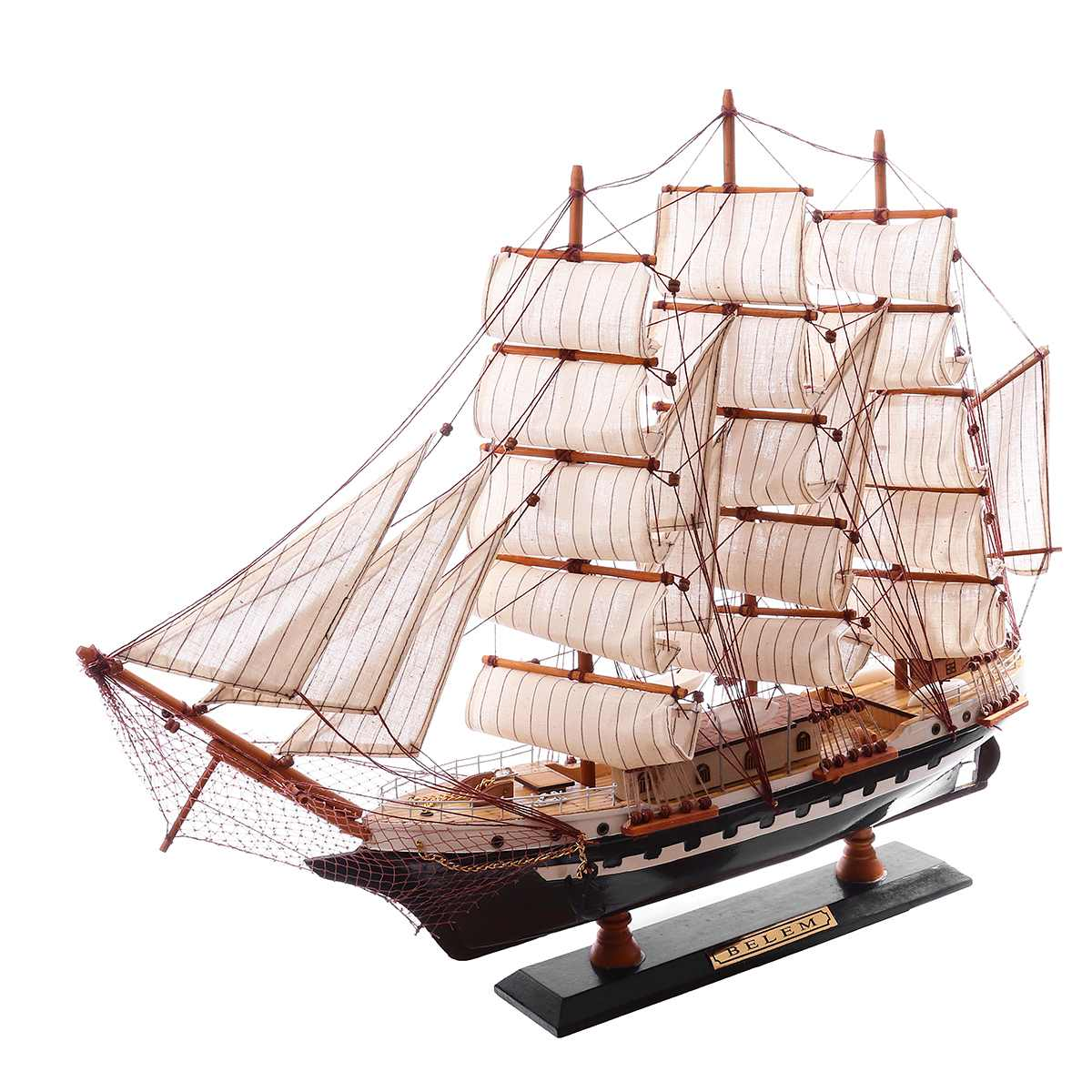 Wooden Sailboat Model Sailing Ship Display Scale Boat Decoration Gift Kits DIY Ship Assembly Model Kits Classical Handmade Boats