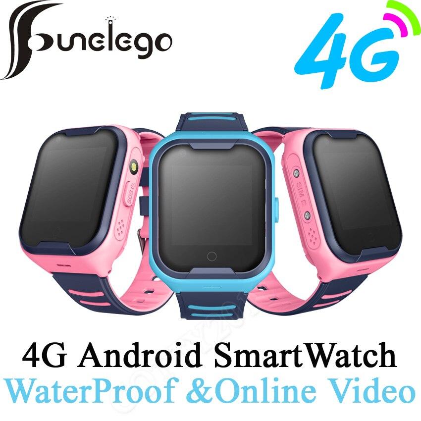 Funelego 4G montre Android intelligente pour enfants caméra HD Compatible 2G carte SIM localisation GPS Tracker enfants montre téléphone étanche