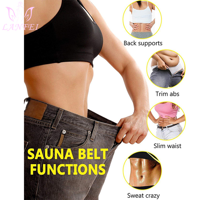 LANFEI Waist Trainer Body Shaper Slimming Belt Sauna Sweat Corset Women thermo Neoprene Tummy Control Cincher Strap Weight Loss 1